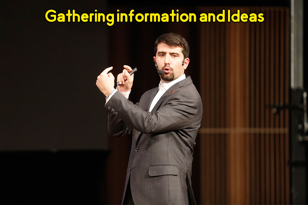 Gathering information and Ideas