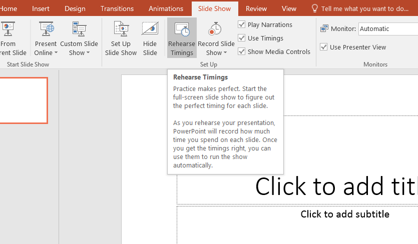 how to set slide timing in powerpoint
