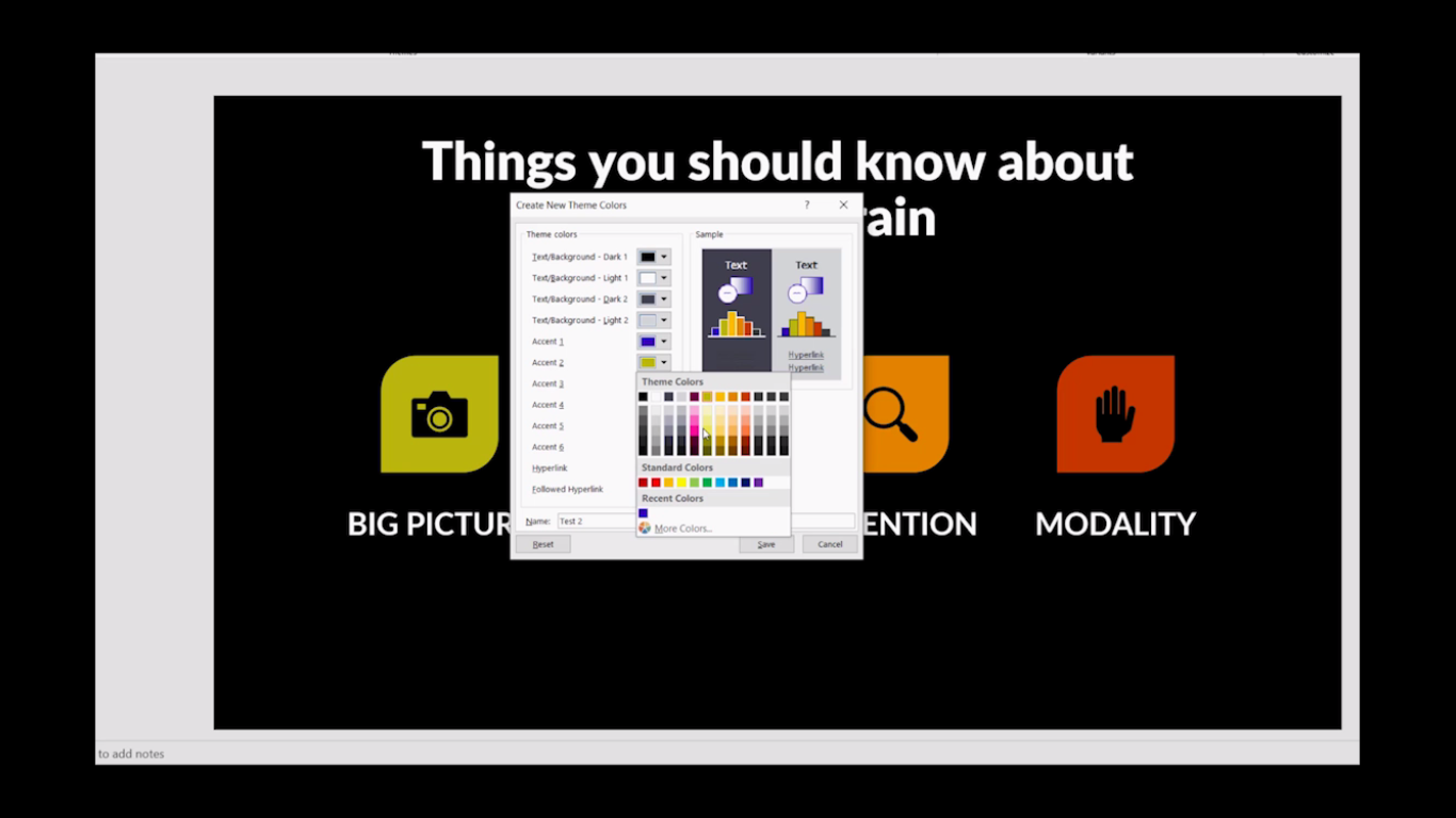 How to change theme colors in PowerPoint