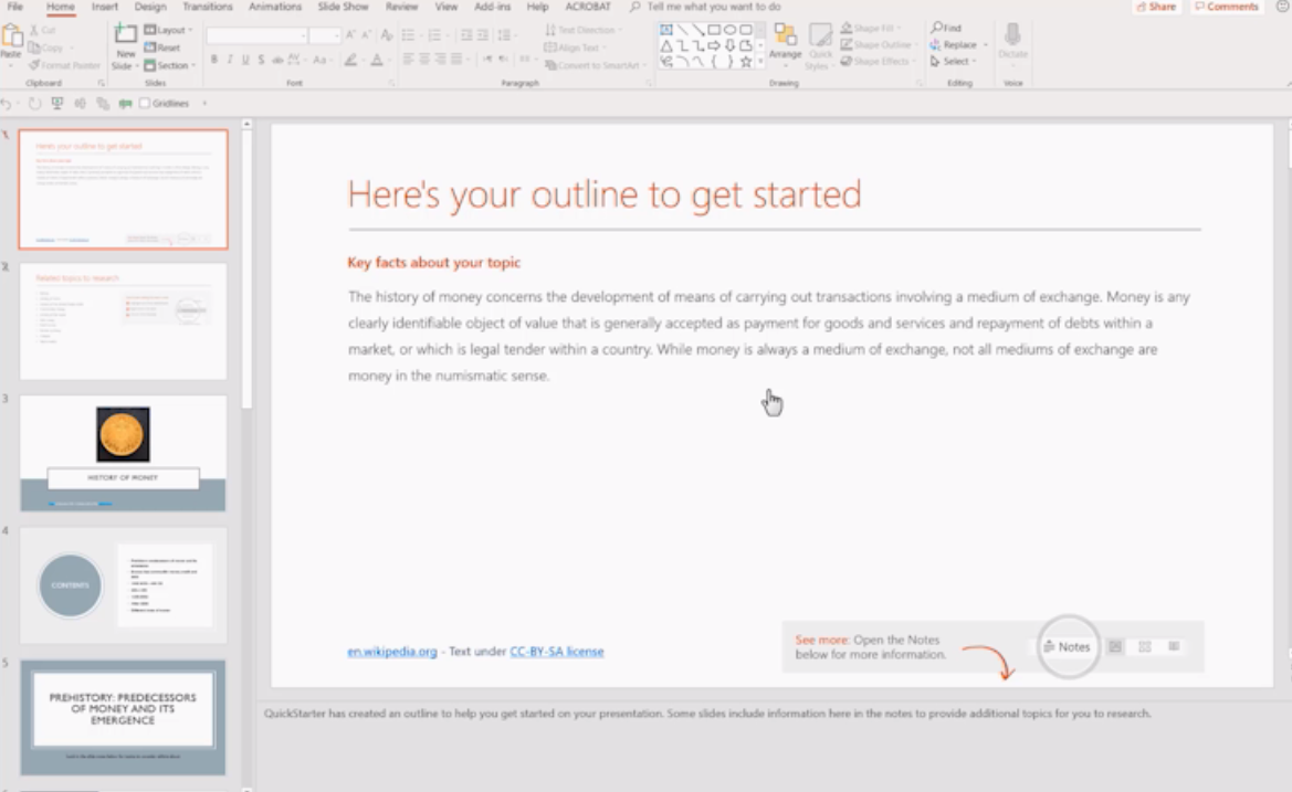 Learn how to use PowerPoint Quickstarter?