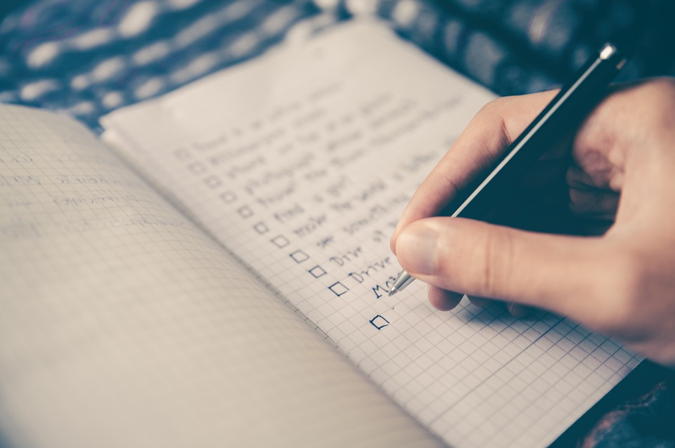Have a checklist an remember everything.